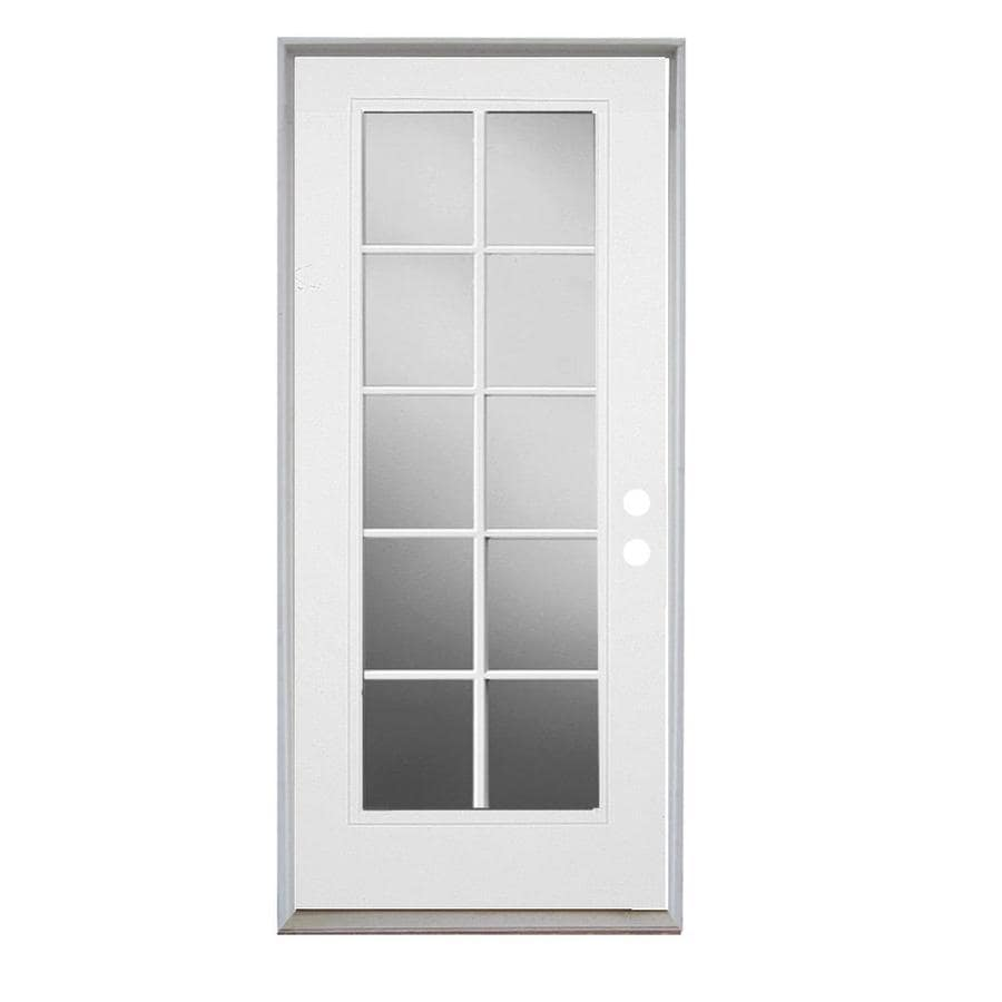 ReliaBilt Grills Between the Glass Right-Hand Inswing Primed Steel Prehung Entry Door with Insulating Core (Common: 32-in x 80-in; Actual: 33.5-in x 81.75-in)