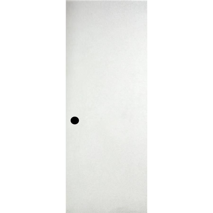ReliaBilt White Flush Solid Core Wood Slab Door (Common: 32 In X 80