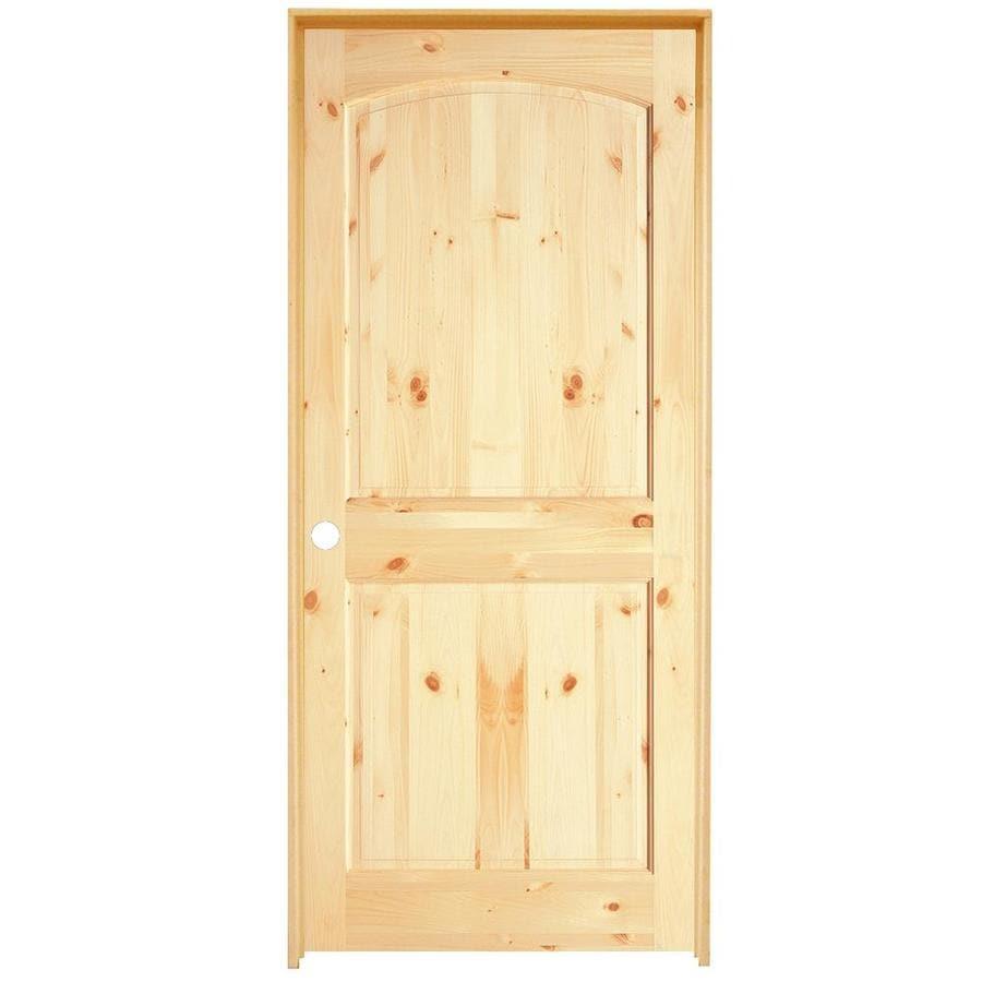 Knotty Pine Cabinet Doors: ReliaBilt Prehung 2-Panel Arch Top Knotty Pine Interior