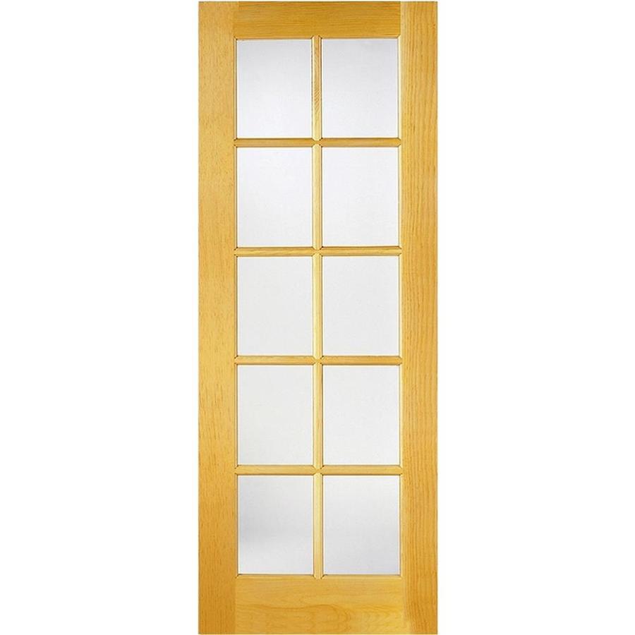 ReliaBilt 10-Lite Pine Slab Interior Door (Common: 24-in x 80-in; Actual: 24-in x 80-in)