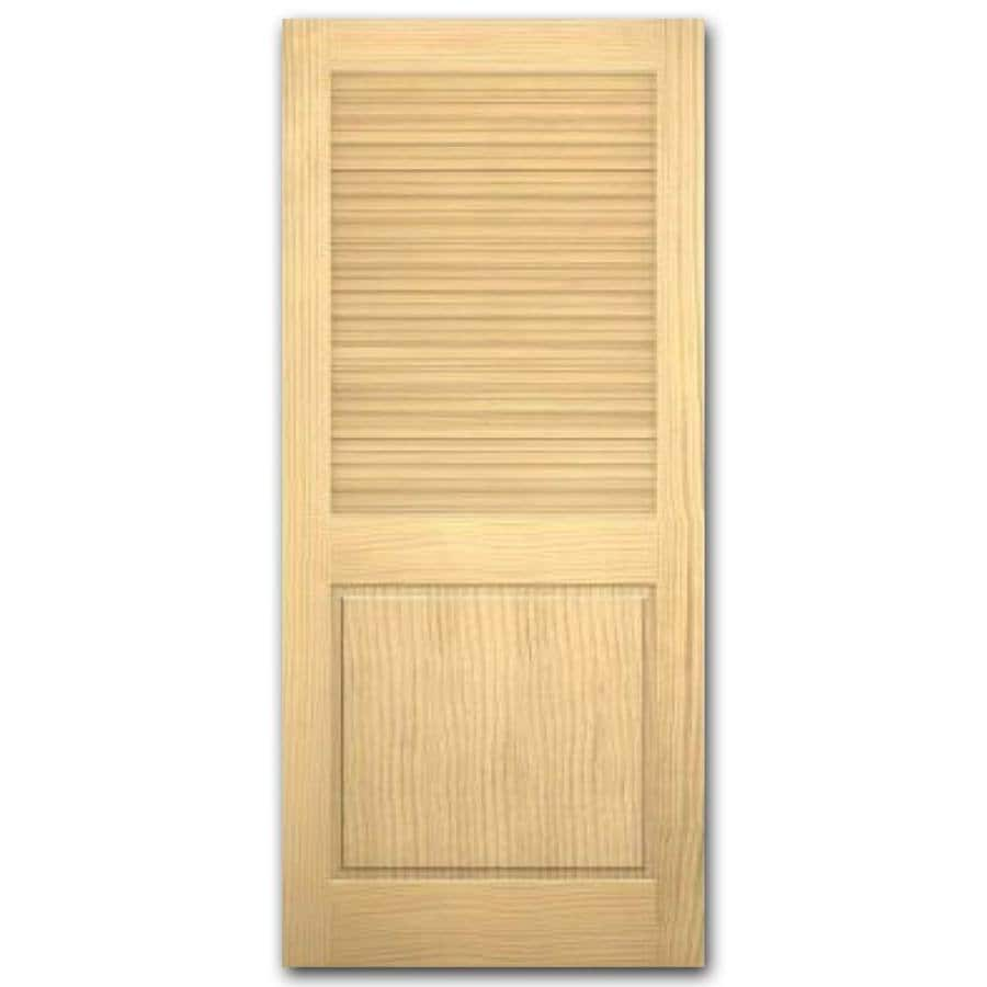 ReliaBilt Louver/Panel Pine Slab Interior Door (Common: 24-in x 80-in; Actual: 24-in x 80-in)