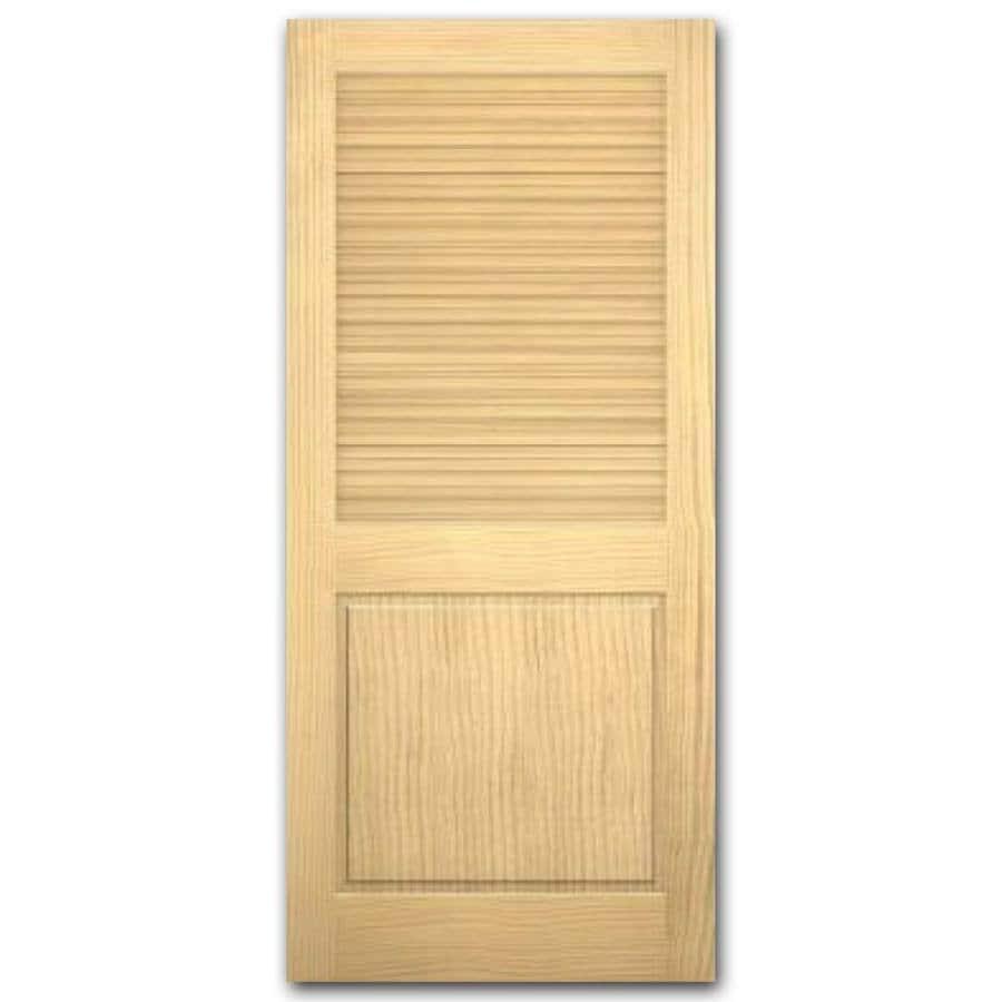 ReliaBilt Louver/Panel Pine Slab Interior Door (Common: 32-in x 80-in; Actual: 32-in x 80-in)