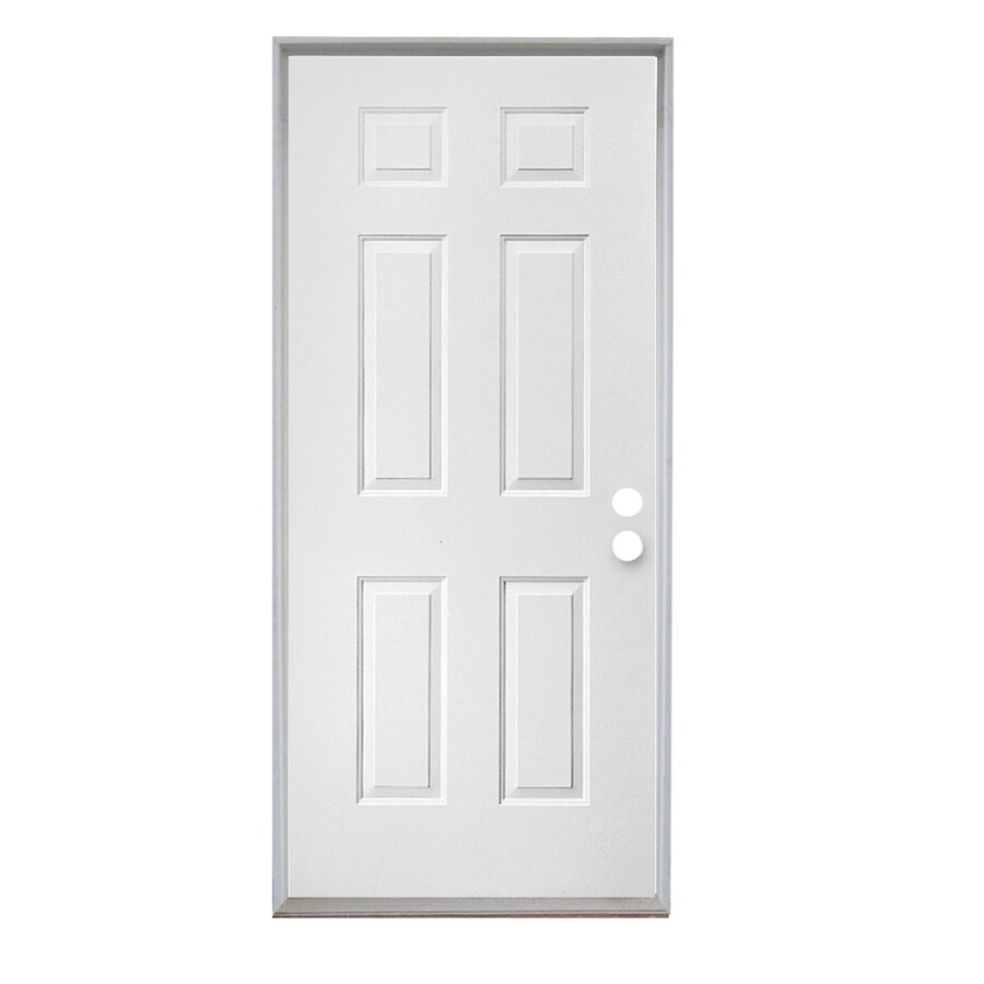 Merveilleux ReliaBilt 6 Panel Insulating Core Right Hand Outswing Steel Primed Prehung Entry  Door (