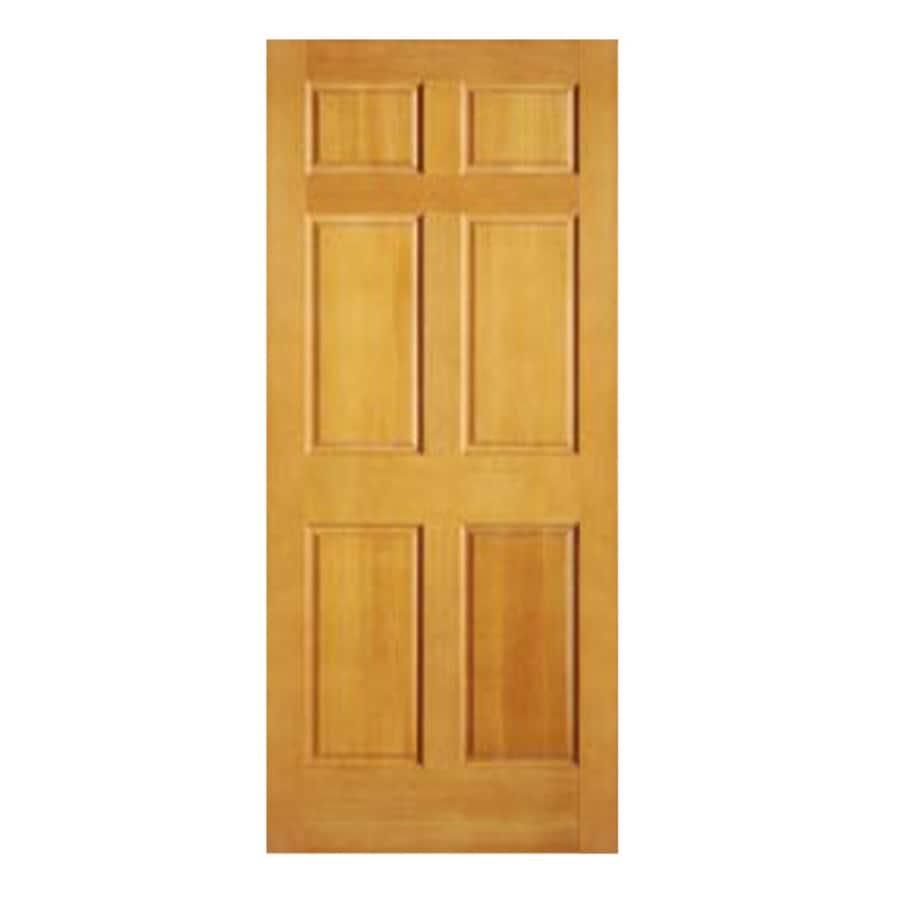 Shop reliabilt 28 x 80 6 panel solid hardwood interior slab door at 6 panel hardwood interior doors