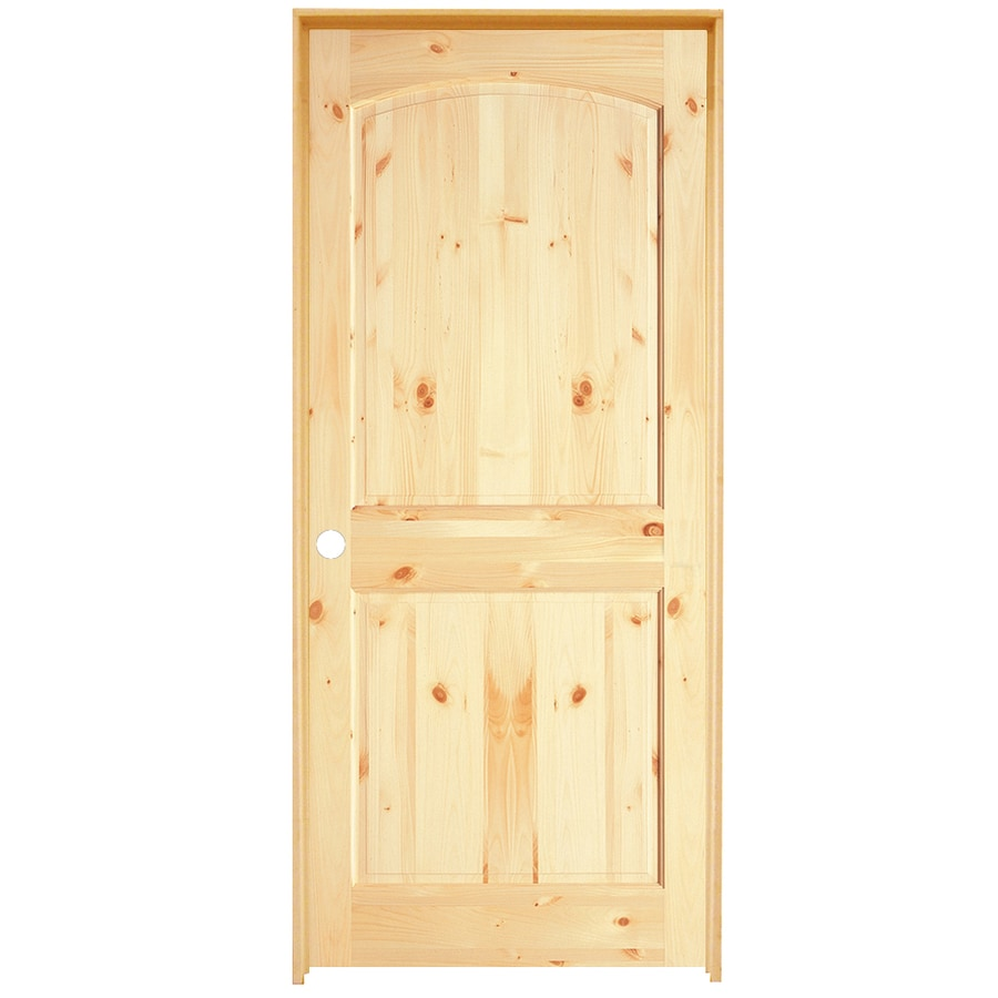 ReliaBilt 2-Panel Arch Top Knotty Pine Slab Interior Door (Common: 28-in x 80-in; Actual: 28-in x 80-in)