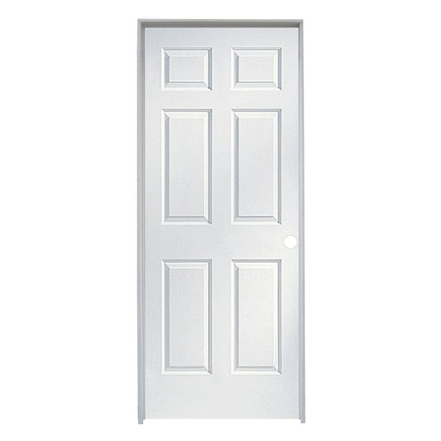 Shop Reliabilt 32 X 96 Molded Hollow Composite Left Hand Interior Single Prehung Door At