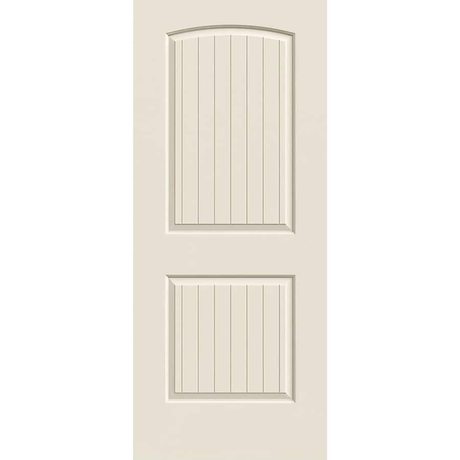 ReliaBilt Hollow Core 2-Panel Round Top Plank Slab Interior Door (Common: 24-in x 80-in; Actual: 24-in x 80-in)