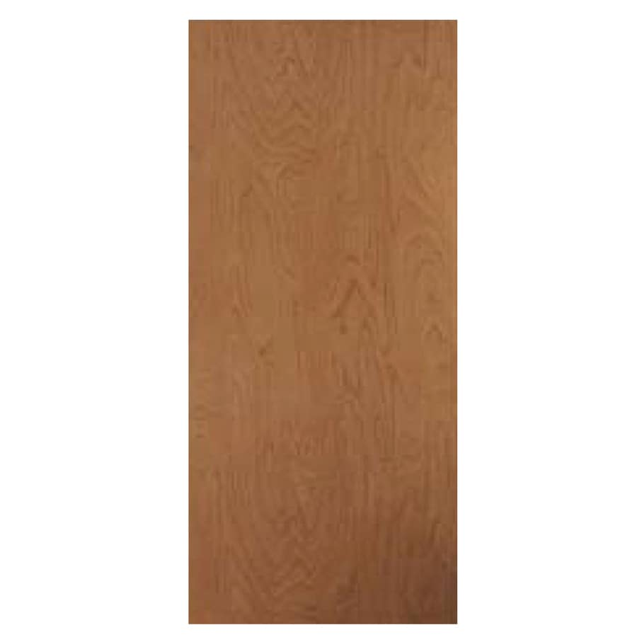 ReliaBilt Brown/Unfinished Solid Core Wood Slab Door (Common: 32 In X
