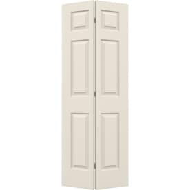 Gentil ReliaBilt White 6 Panel Molded Composite Bifold Door (Common: 24 In X