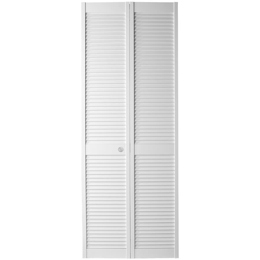 ReliaBilt White Full Louver Bi-Fold Closet Interior Door (Common: 36-in x 80-in; Actual: 35.5-in x 79-in)