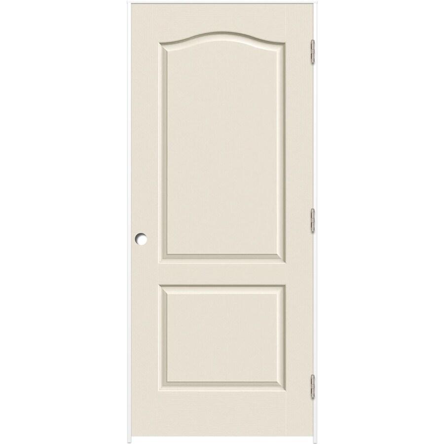 ReliaBilt Prehung Hollow Core 2-Panel Arch Top Interior Door (Common: 36-in x 80-in; Actual: 37.5-in x 81.5-in)
