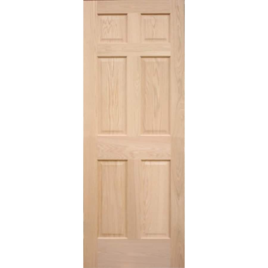 ReliaBilt 6-panel Oak Slab Interior Door (Common: 30-in x 80-in; Actual: 30-in x 80-in)