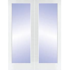 Reliabilt White Solid Core Clear Gl Molded Composite French Door Common 48 In