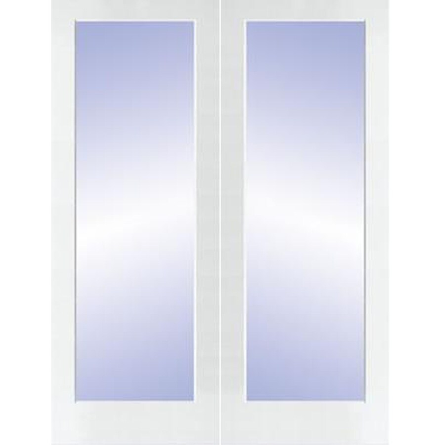 Shop reliabilt prehung 1 lite pine french interior door for Prehung interior french doors
