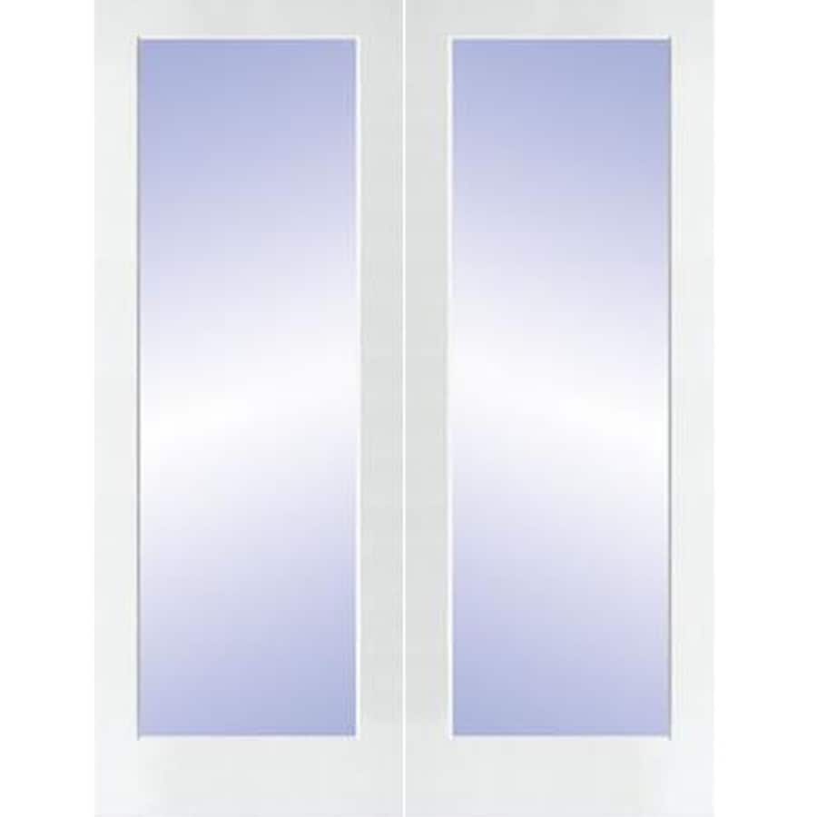 Superieur ReliaBilt White Solid Core Clear Glass Molded Composite French Door  (Common: 60 In