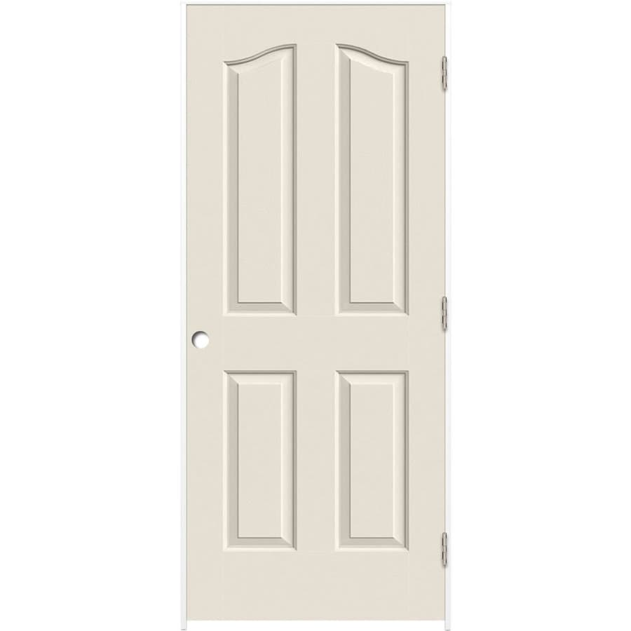 Great ReliaBilt White 4 Panel Arch Top Hollow Core Molded Composite Single  Prehung Door (Common
