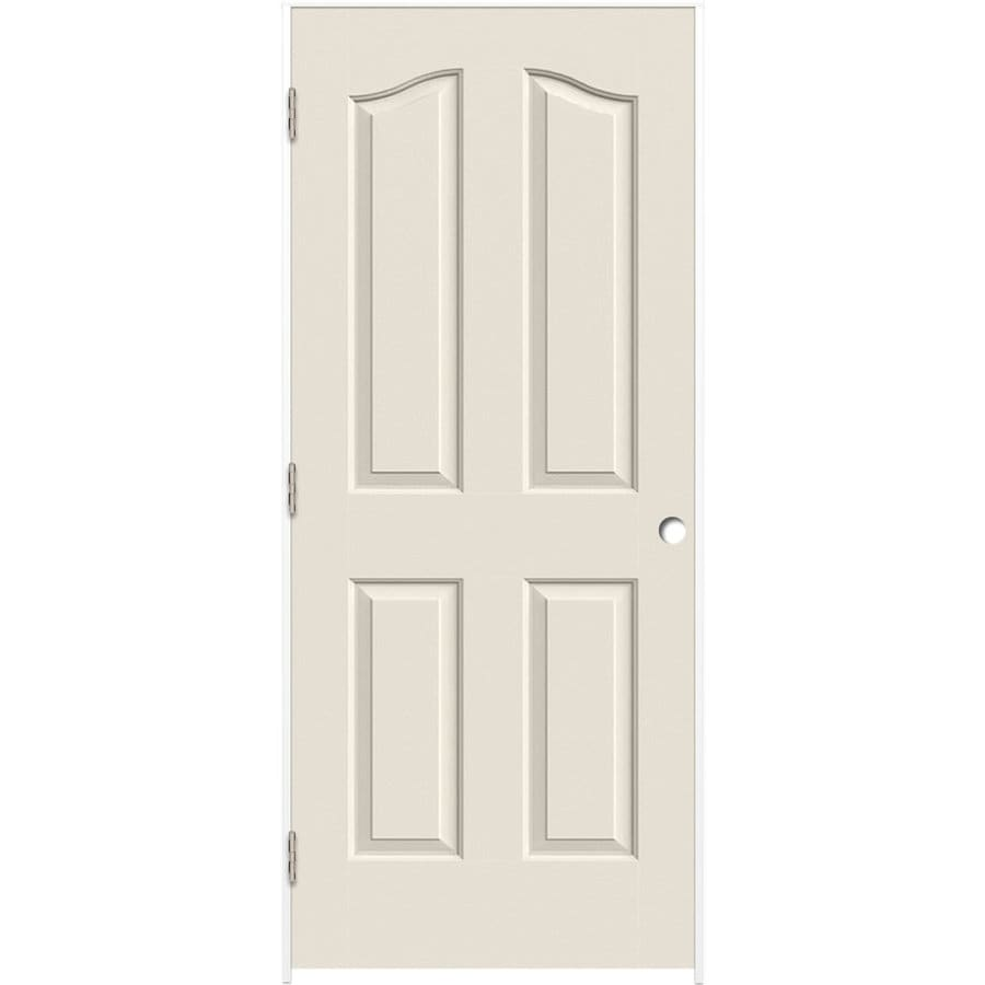 ReliaBilt (Primed) Prehung Hollow Core 4-Panel Arch Top Interior Door (Common: 30-in x 80-in; Actual: 31.5-in x 81.5-in)