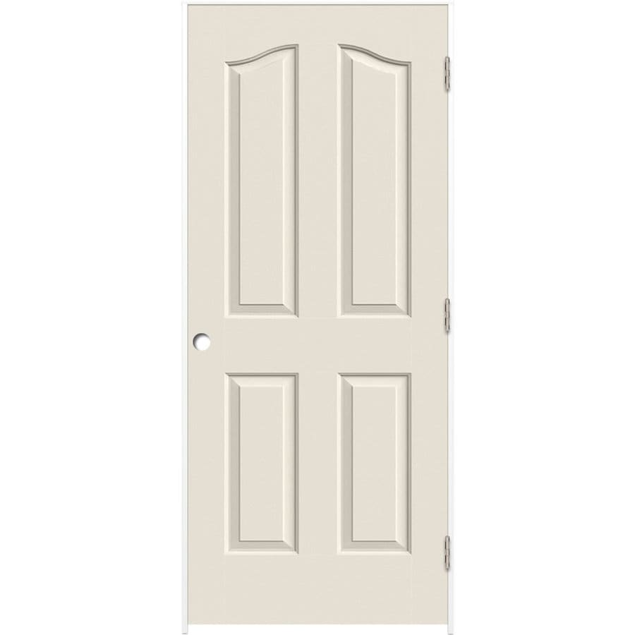 ReliaBilt Prehung Hollow Core 4-Panel Arch Top Interior Door (Common: 32-in x 80-in; Actual: 33.5-in x 81.5-in)