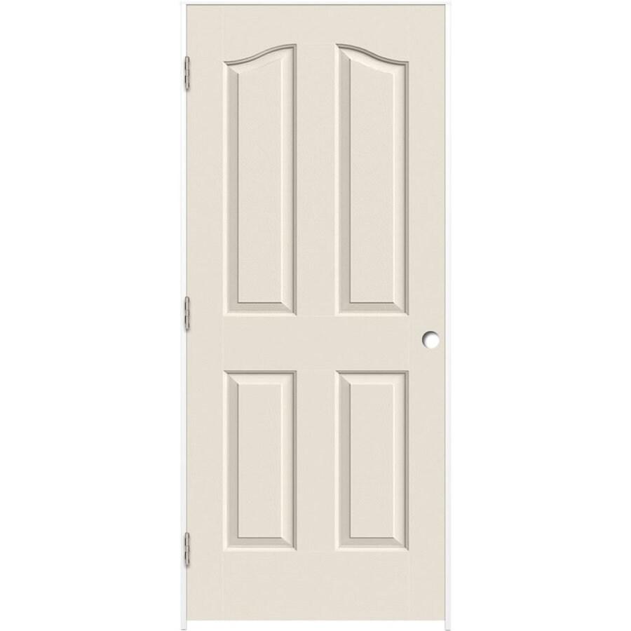 ReliaBilt Prehung Hollow Core 4-Panel Arch Top Interior Door (Common: 36-in x 80-in; Actual: 37.5-in x 81.5-in)