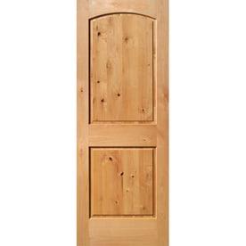 ReliaBilt Knotty Alder Slab Interior Door (Common: 28 In X 80 In