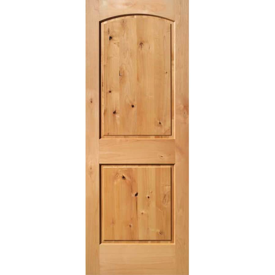Shop Reliabilt Brownunfinished 2 Panel Round Top Wood Slab Door