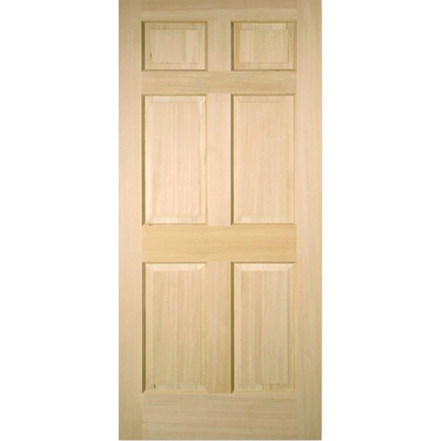 Reliabilt 6 Panel Fir Slab Interior Door Common 24 In X 80