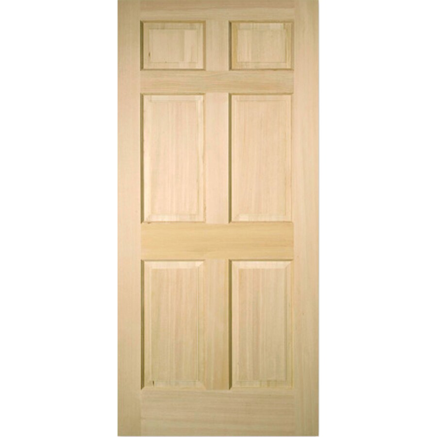 Shop Reliabilt 6 Panel Fir Slab Interior Door Common 36 In X 80 In Actual 36 In X 80 In At