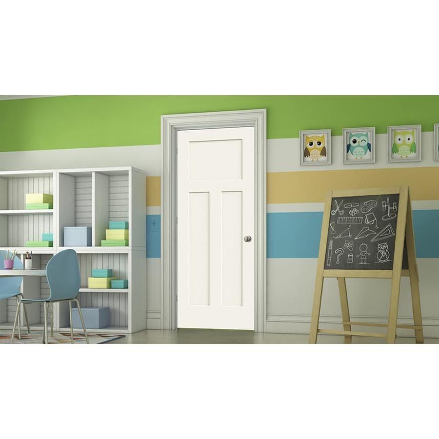 ReliaBilt Hollow Core 3-Panel Craftsman Slab Interior Door (Common: 24-in x 80-in; Actual: 24-in x 80-in)
