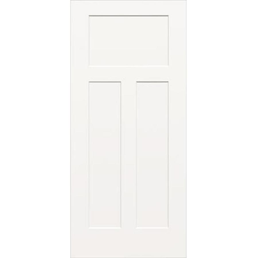 ReliaBilt Hollow Core 3-Panel Craftsman Slab Interior Door (Common: 28-in x 80-in; Actual: 28-in x 80-in)
