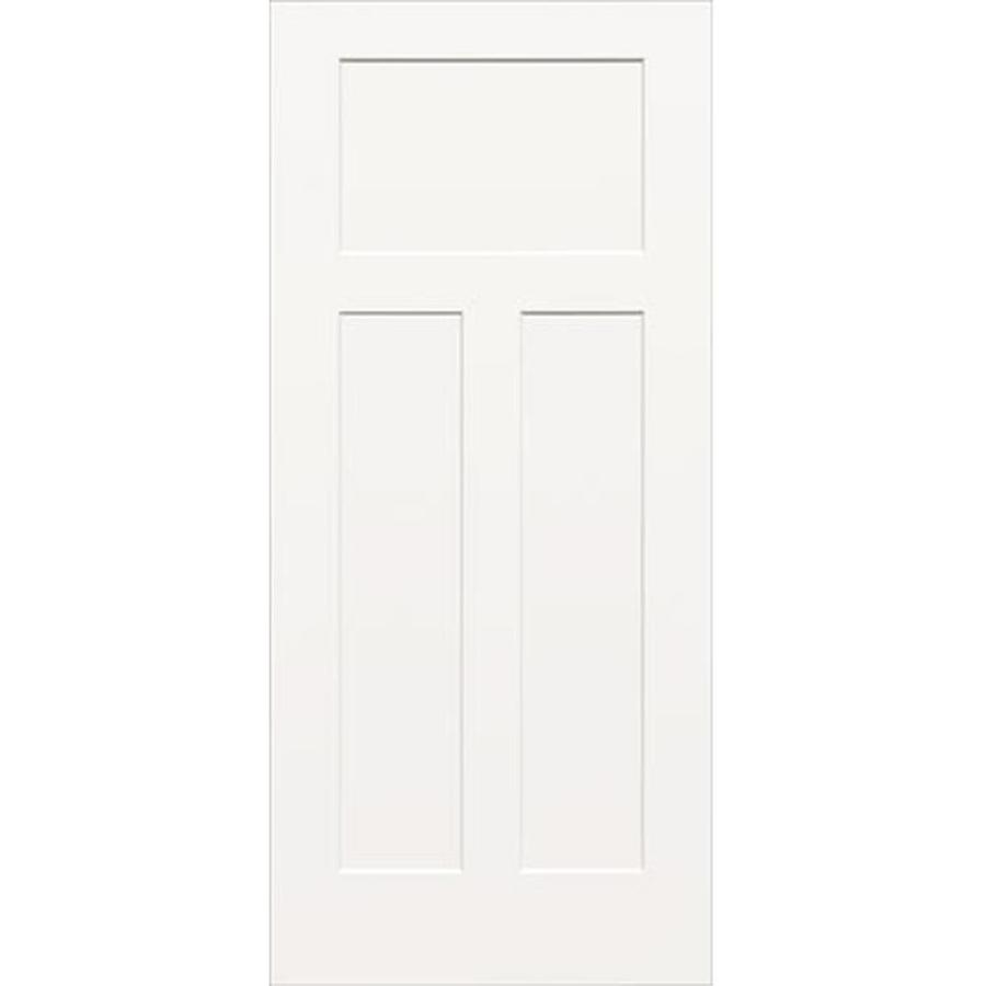 ReliaBilt (Unfinished) Hollow Core 3-Panel Craftsman Slab Interior Door (Common: 30-in x 80-in; Actual: 30-in x 80-in)