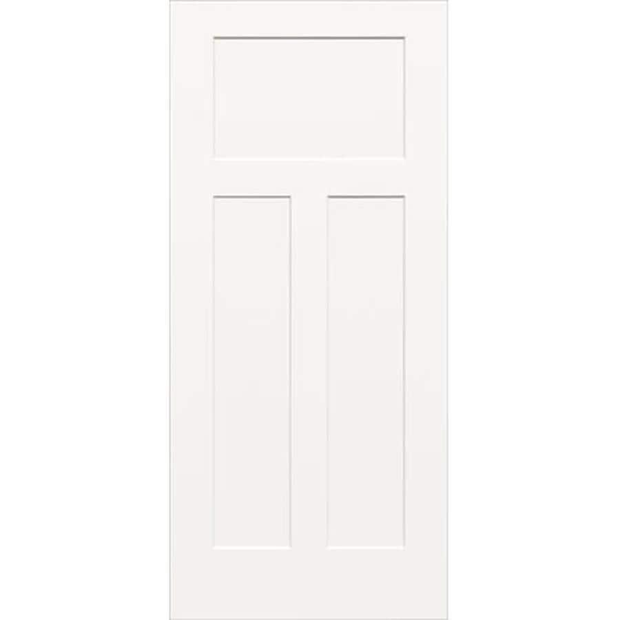 ReliaBilt (Unfinished) Hollow Core 3-Panel Craftsman Slab Interior Door (Common: 32-in x 80-in; Actual: 32-in x 80-in)