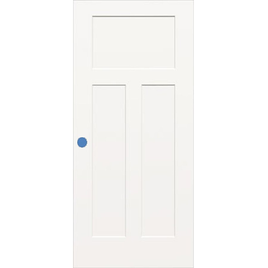 ReliaBilt (Unfinished) Hollow Core 3-Panel Craftsman Slab Interior Door (Common: 30-in x 80-in; Actual: 30-in x 80-in)