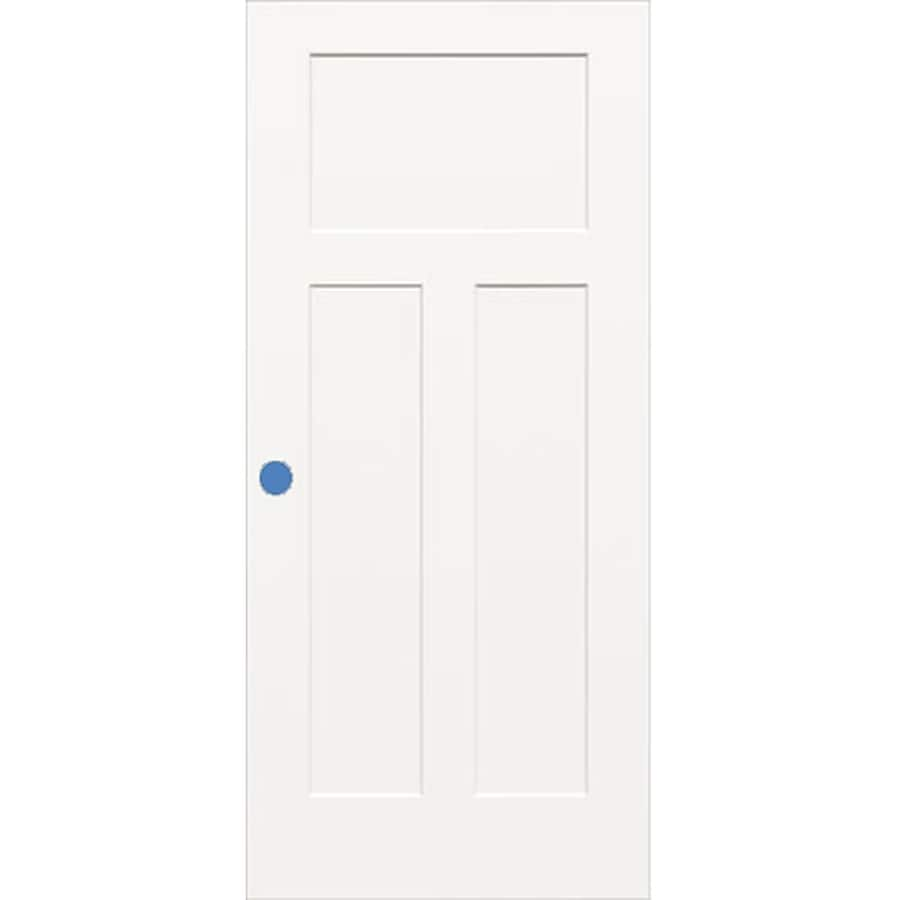 ReliaBilt Hollow Core 3-Panel Craftsman Slab Interior Door (Common: 36-in x 80-in; Actual: 36-in x 80-in)