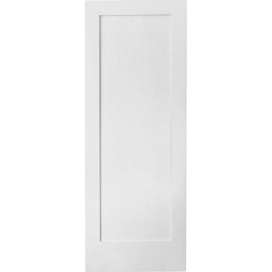 Reliabilt Shaker White 1 Panel Solid Core Wood Slab Door