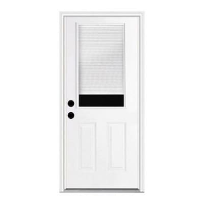 Fiberglass Blinds Between The Glass Front Doors At Lowes Com This vertical application is ideally suited for patio doors as the shade will stack tightly to one side. blinds between the glass front doors