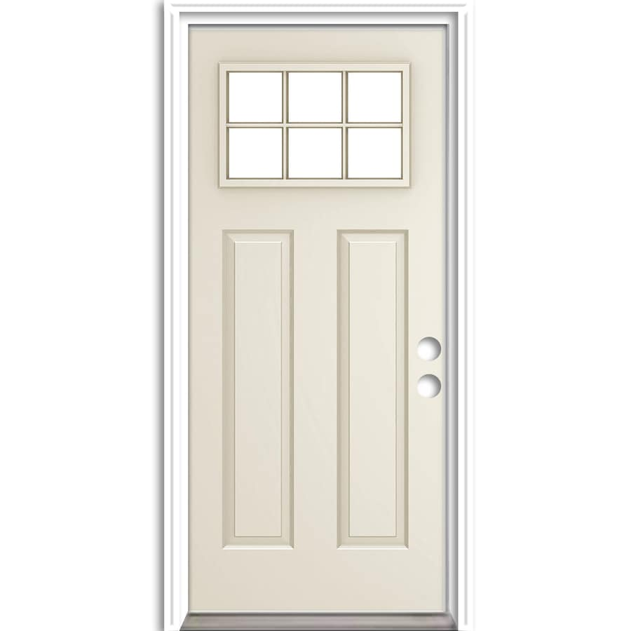 Shop reliabilt right hand inswing primed steel entry door for Prehung exterior door