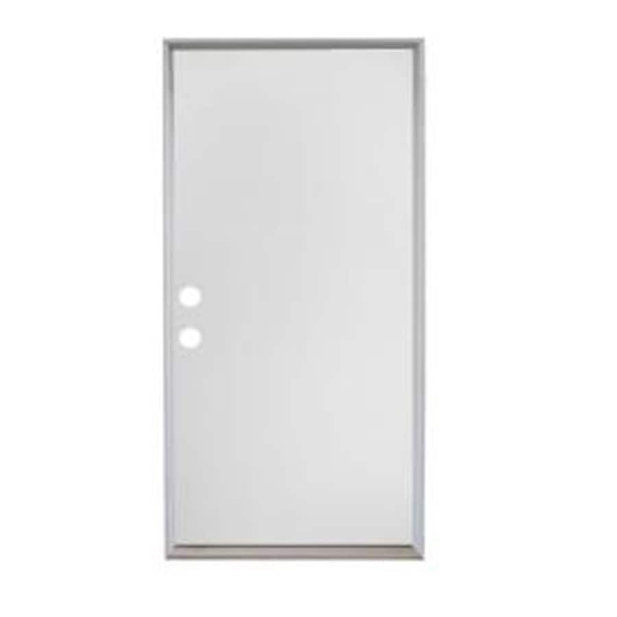 ReliaBilt Right-Hand Inswing Primed Steel Prehung Entry Door with Insulating Core (Common: 36-in X 80-in; Actual: 37.5-in x 81.75-in)