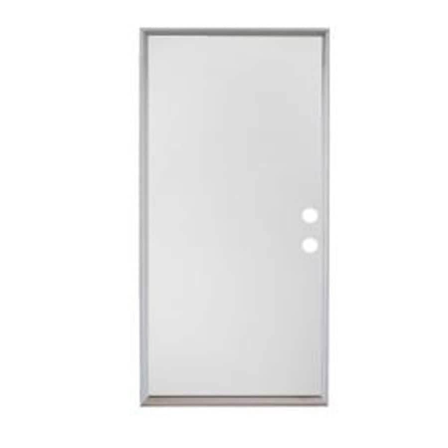ReliaBilt Flush Insulating Core Universal Reversible Steel Primed Prehung Entry Door (Common: 36-in x 80-in; Actual: 36-in x 81.5-in)