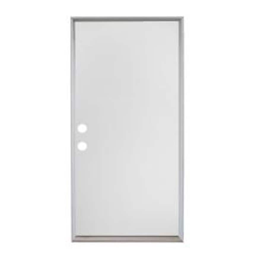 ReliaBilt Reversible Primed Steel Entry Door with Insulating Core (Common: 32-in x 80-in; Actual: 32-in x 81.5-in)