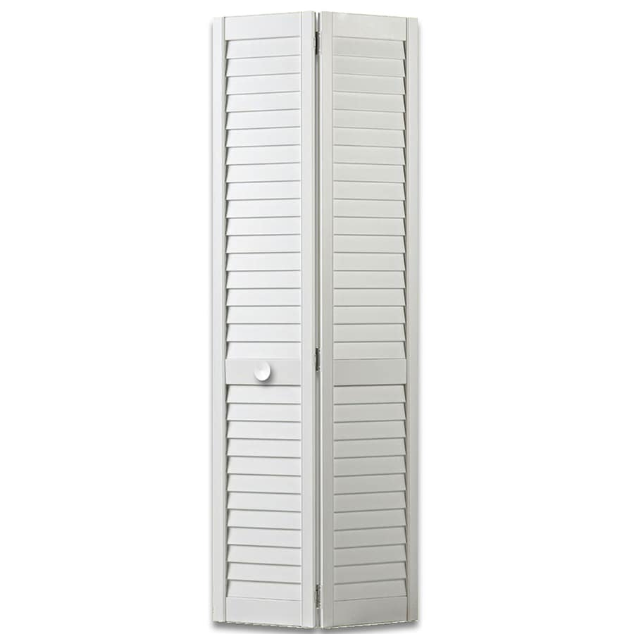 ReliaBilt White Full Louver Pine Bi-Fold Closet Interior Door (Common: 30-in x 80-in; Actual: 29.5-in x 79-in)