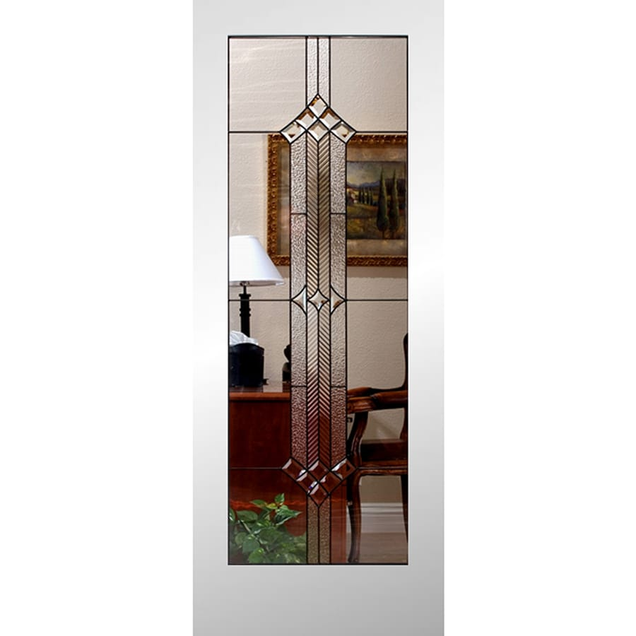Reliabilt White 1 Panel Solid Core Stained Glass Wood Slab
