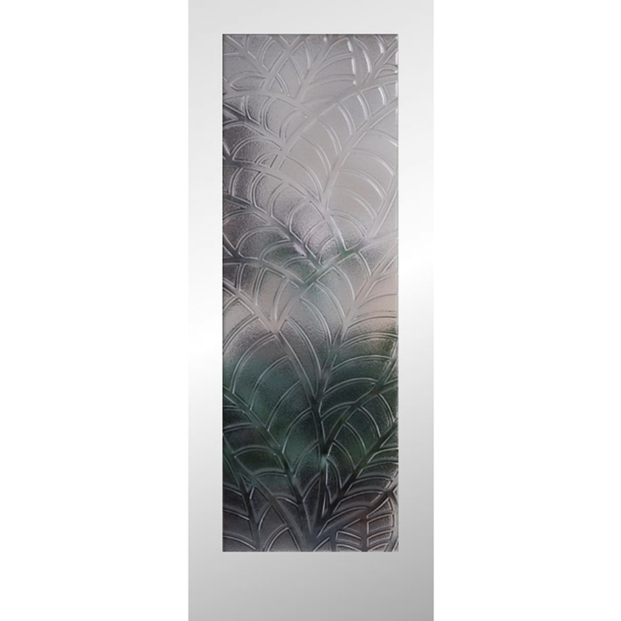 ReliaBilt Primed Solid Core Patterned Glass Slab Interior Door (Common: 24-in x 80-in; Actual: 24-in x 80-in)