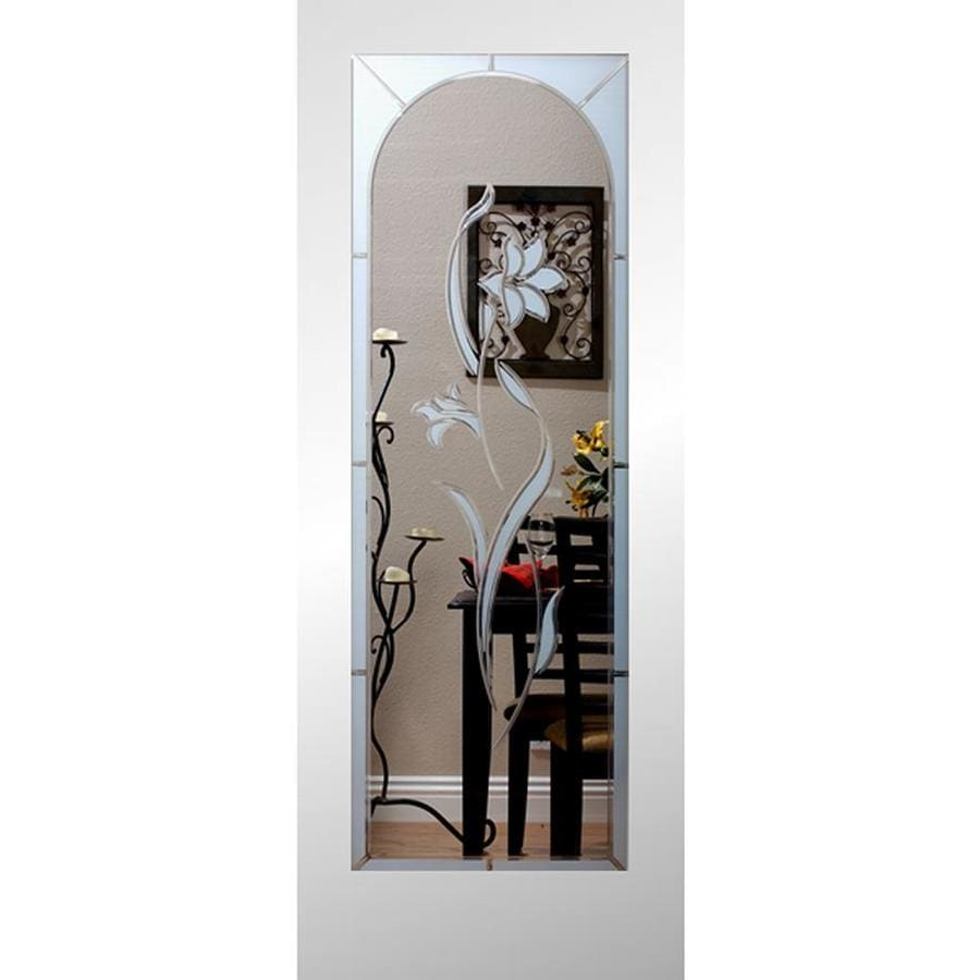 ReliaBilt Full Lite Etched Glass Slab Interior Door (Common: 24-in X 80-in; Actual: 24-in x 80-in)