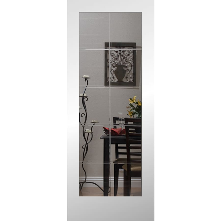 Shop Reliabilt Etched Glass Slab Interior Door Common 24 In X 80 In Actual 24 In X 80 In At