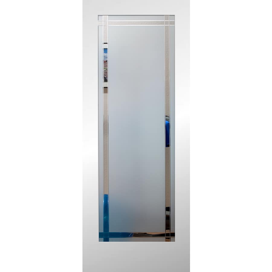Shop Reliabilt Primed 1 Panel Solid Core Clear Glass Wood Slab Door Common 24 In X 80 In