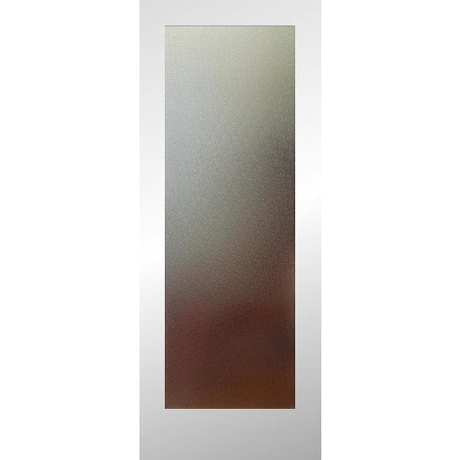ReliaBilt Full Lite Patterned Glass Pine Slab Interior Door (Common: 24-in X 80-in; Actual: 24-in x 80-in)