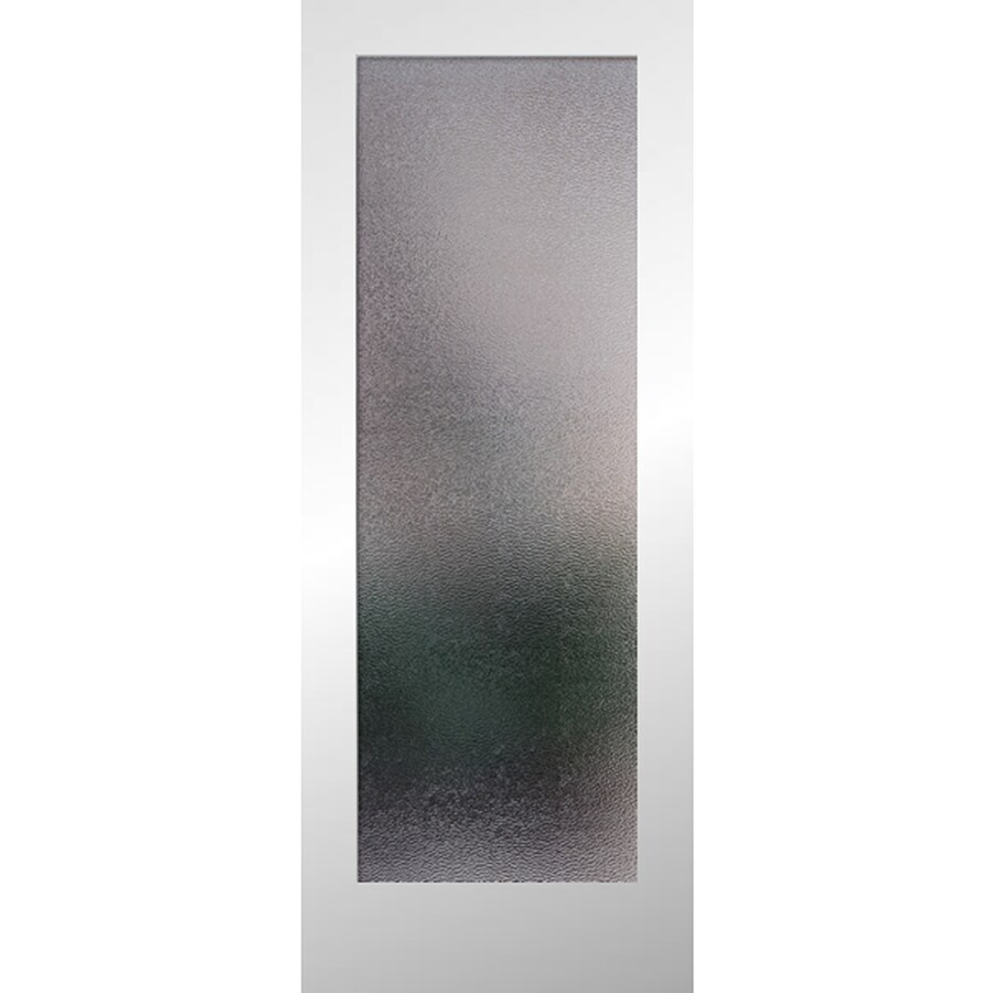 Reliabilt White 1 Panel Solid Core Patterned Glass Wood Slab Door Common 24