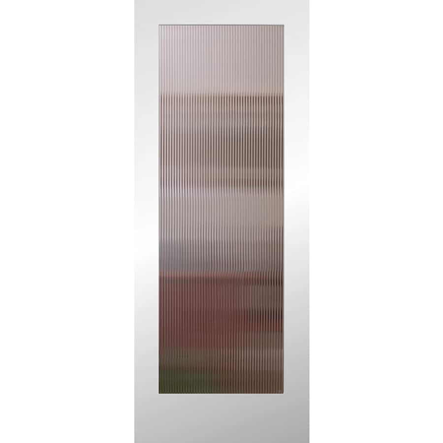ReliaBilt Full Lite Patterned Glass Slab Interior Door (Common: 24-in X 80-in; Actual: 24-in x 80-in)