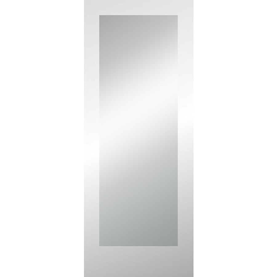 ReliaBilt Clear Glass Slab Interior Door (Common: 24-in x 80-in; Actual: 24-in x 80-in)