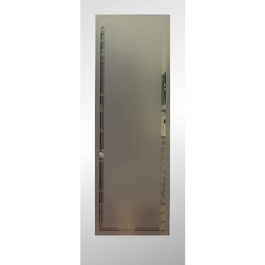 Shop Reliabilt Primed Solid Core Clear Glass Slab Interior Door Common 24 In X 80 In Actual